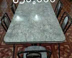 Comedor de metal de 4, 6 y 8 sillas