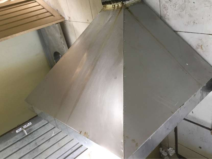 Campana de Cocina Industrial 1,00x1,40 m Acero Inox
