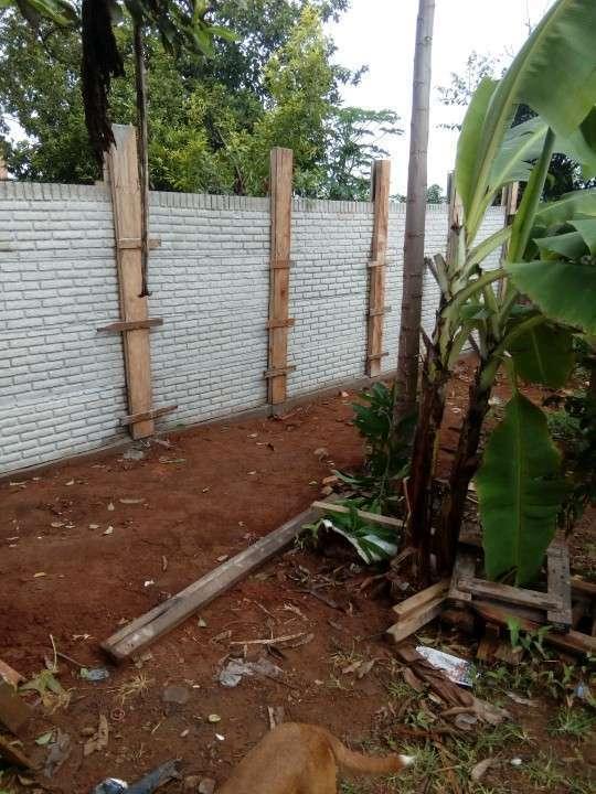 Instalación de murallas con bloques de hormigón pre moldeado - 3