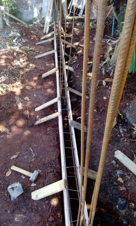 Instalación de murallas con bloques de hormigón pre moldeado - 5