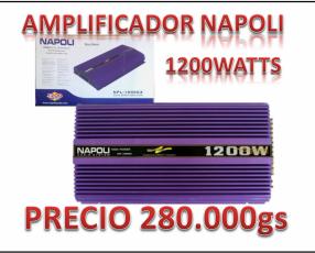 Amplificador napoli de 1200 watts
