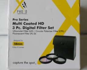 Filtros para cámaras profesionales