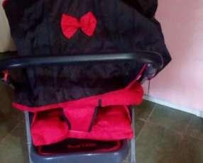 Carrito unisex color rojo con negro