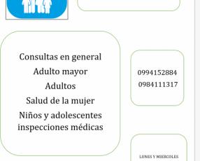 Consulta e inspección médica