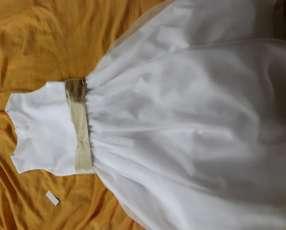 Vestido para cortejo blanco