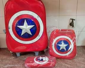 Set de mochila lonchera y cartuchera