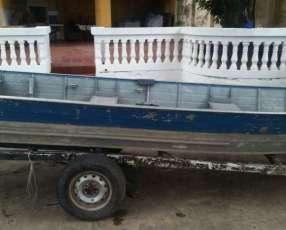 Embarcación de aluminio con motor de 15hp
