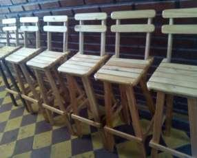 Sillas sillitas butacas mesas plegables mostradores