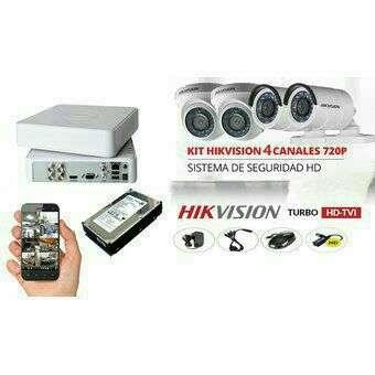 kit 4 cámaras hikvision