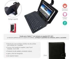 Estuche con teclado para tablet 7 pulgadas