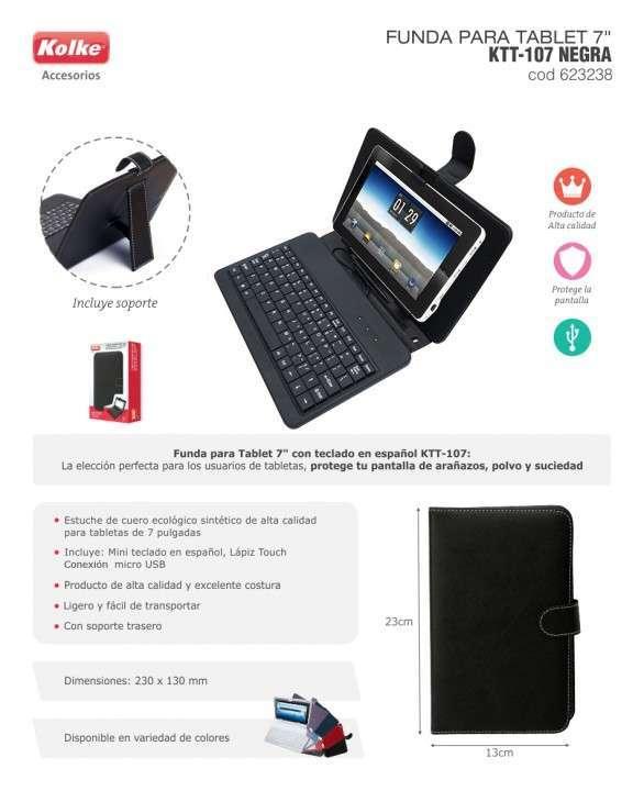 Estuche con teclado para tablet 7 pulgadas - 0
