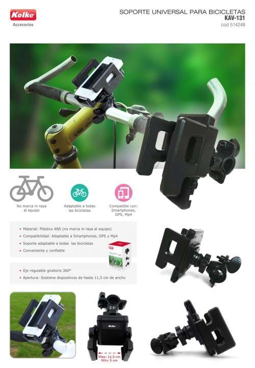 Soporte de celular para bicicleta Kolke - 0