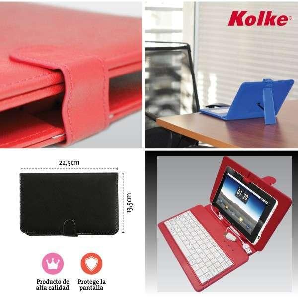 Estuche con teclado para tablet 7 pulgadas - 1