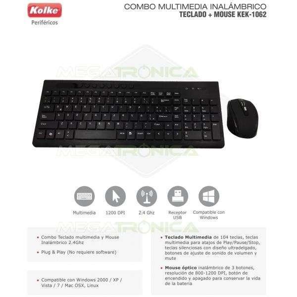 Teclado y mouse inalámbrico español Kolke KEK-1062 - 0
