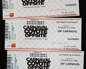 Entradas vip para el Carnaval Coyote