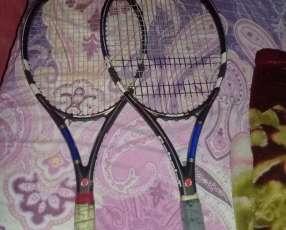 Raquetas de tenis babolat y heat