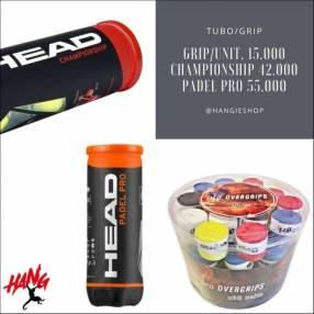 Tubo de 3 pelotas Head Championship y Padel Pro