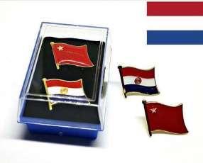 Pin del Paraguay partido colorado liberal y musiales
