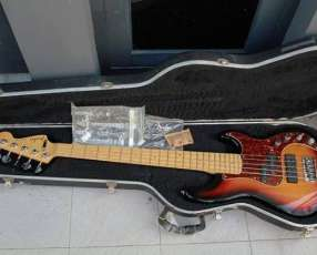 Fender American Deluxe Jazz V 5-String bass, 3-Color Sunburs