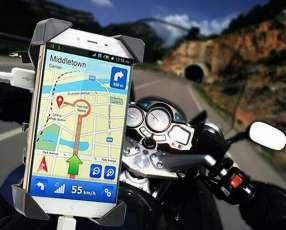 Cargador con soporte de celular para moto