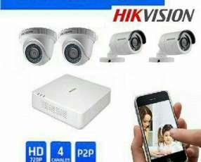 Kit de 4 Camaras de seguridad Hikvision