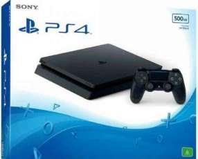Playstation 4 de 500 gb slim con accesorios
