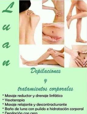 Depilación masaje reductor masajes relajantes en general