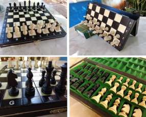 Juego de ajedrez magnético hecho en Polonia