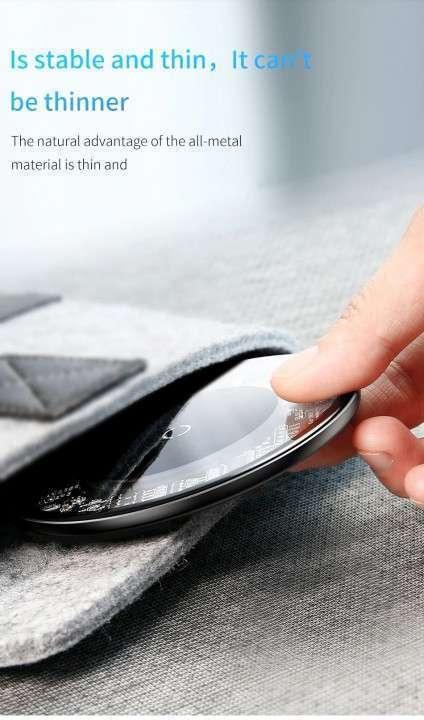 Cargador inalámbrico Qi 10W Baseus iPhone Samsung - 3