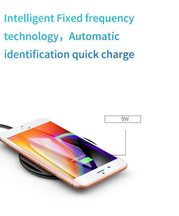 Cargador inalámbrico Qi 10W Baseus iPhone Samsung - 6