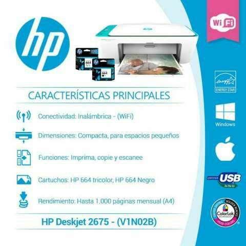 Impresora hp 2675 wifi multifunción - 4