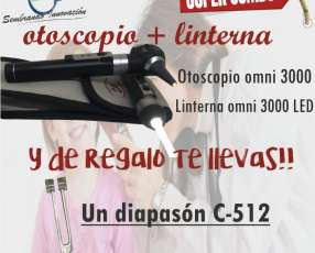 Otoscopio + 1linterna y de regalo te llevas 1diapason