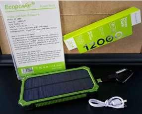 Cargador solar Ecopower 12.000 mAh