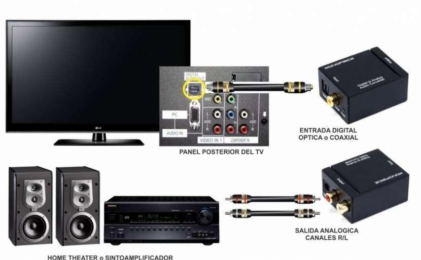 Convertidor audio digital Toslink óptico coaxial a RCA - 3