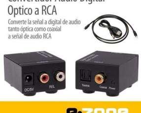 Convertidor audio digital Toslink óptico coaxial a RCA