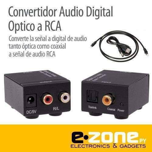 Convertidor audio digital Toslink óptico coaxial a RCA - 0