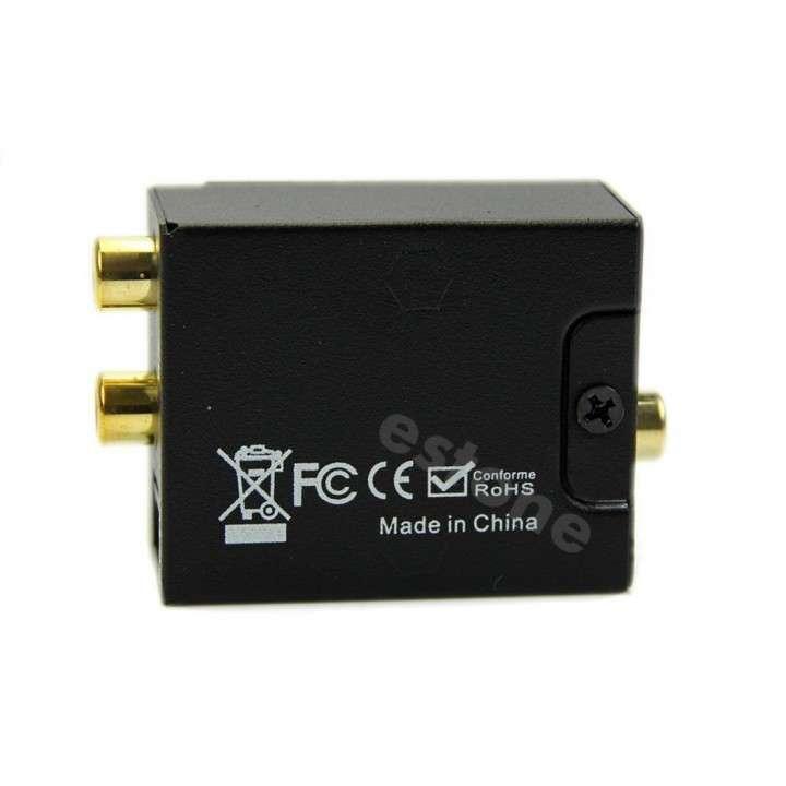 Convertidor audio digital Toslink óptico coaxial a RCA - 1
