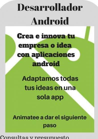 Desarrollador Android, App, Aplicación Android