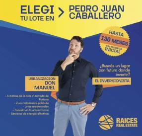 Terreno en Pedro Juan Caballero