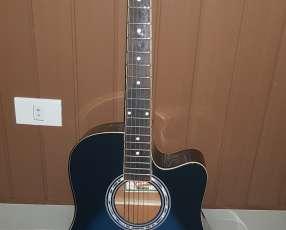 Guitarra Acústica Oscar Amith by Washburn con amplificador de marca Fender
