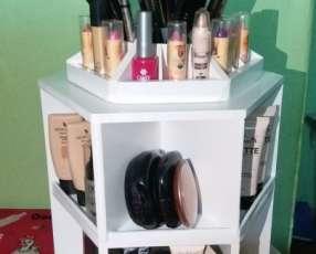 Mueble organizador de cosméticos giratorio 360º