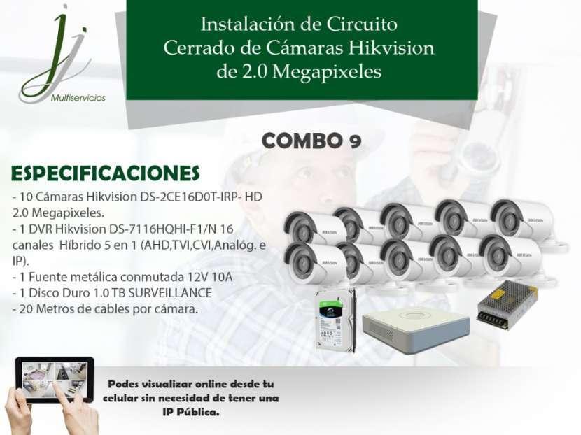 Circuito Cerrado de 10 Cámaras Hikvision con Instalación Combo 9 - 0