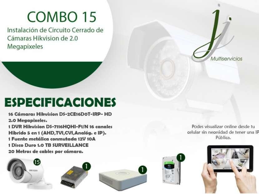 Circuito Cerrado de 16 Cámaras Hikvision con Instalación Combo 15 - 0