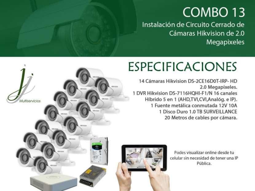 Circuito Cerrado de 14 Cámaras Hikvision con Instalación Combo 13