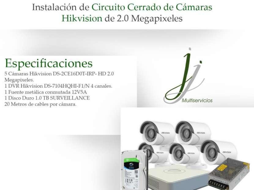 Circuito Cerrado de 5 Cámaras Hikvision con Instalación Combo 4 - 0