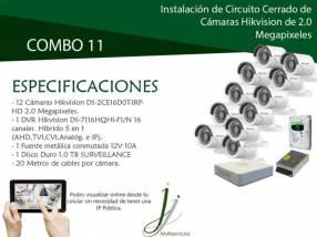 Circuito Cerrado de 12 Cámaras Hikvision con Instalación Combo 11