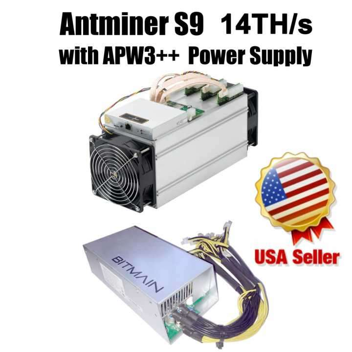 Antminer S9 14TH + Supply Unit - 0