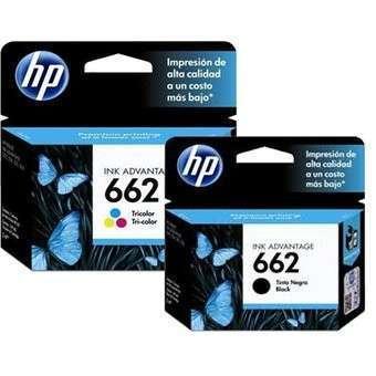 Tintas HP 662 originales - 0