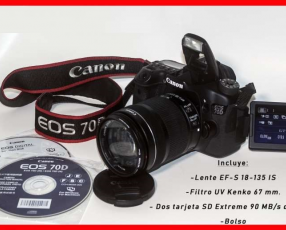 Cámara fotográfica Canon EOS 70D 18-135