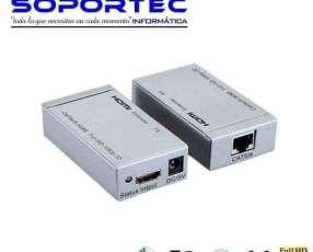 Extender HDMI soporta 60 metros por cable utp